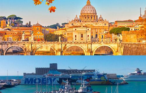 prenota il transfer da Roma al porto di Civitavecchia